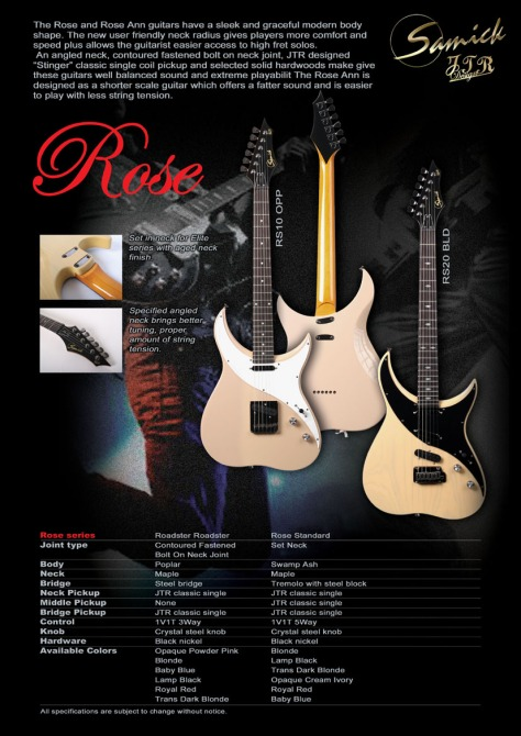 Samick JTR Series, Rose Model