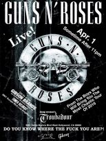 Poster Konser GNR 01 April 2016 - Troubadour, Hollywood, CA